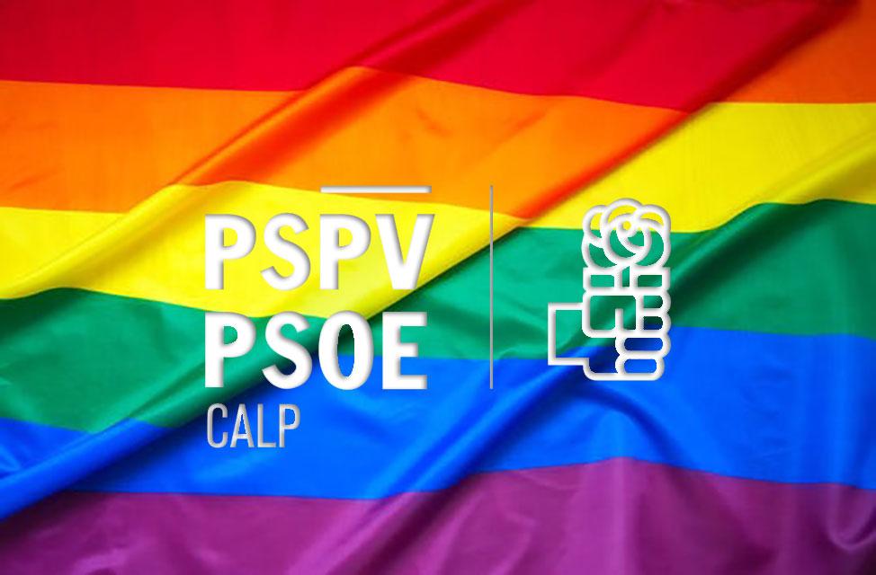 una oportunidad para lucir la enseña del ArcoIris con motivo del Día Internacional del Orgullo y señalizar que Calp es un pueblo LGTBI Friendly