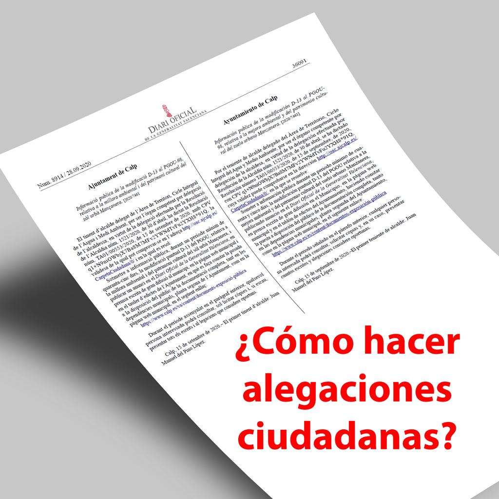 Guía ciudadana para presentar una alegación a las ordenanzas municipales